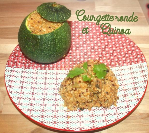 courgette ronde quinoa légende